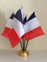 FRANCE - TABLE FLAG SET - 4 FLAGS